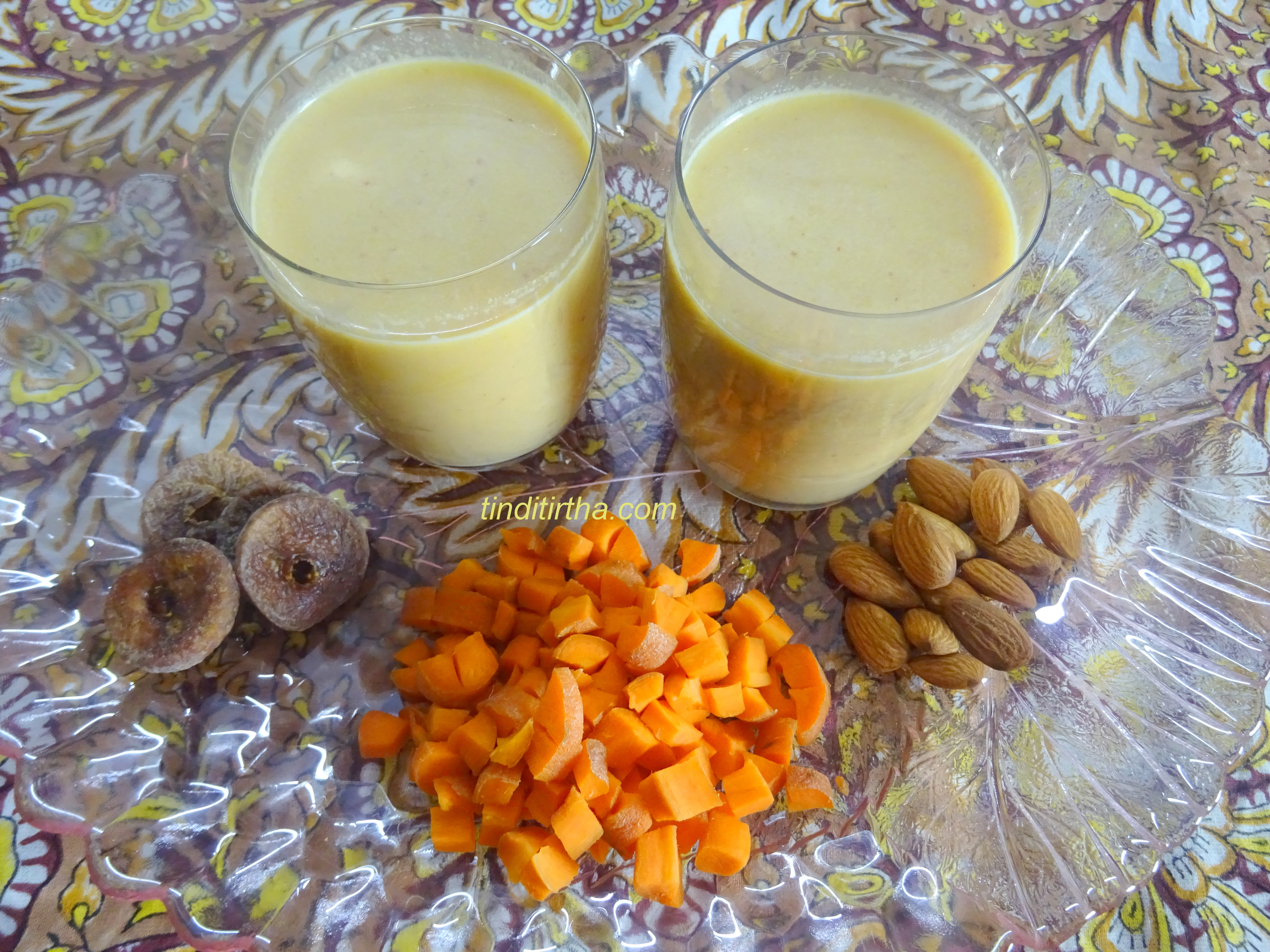 CARROT-ALMOND MILK SHAKE