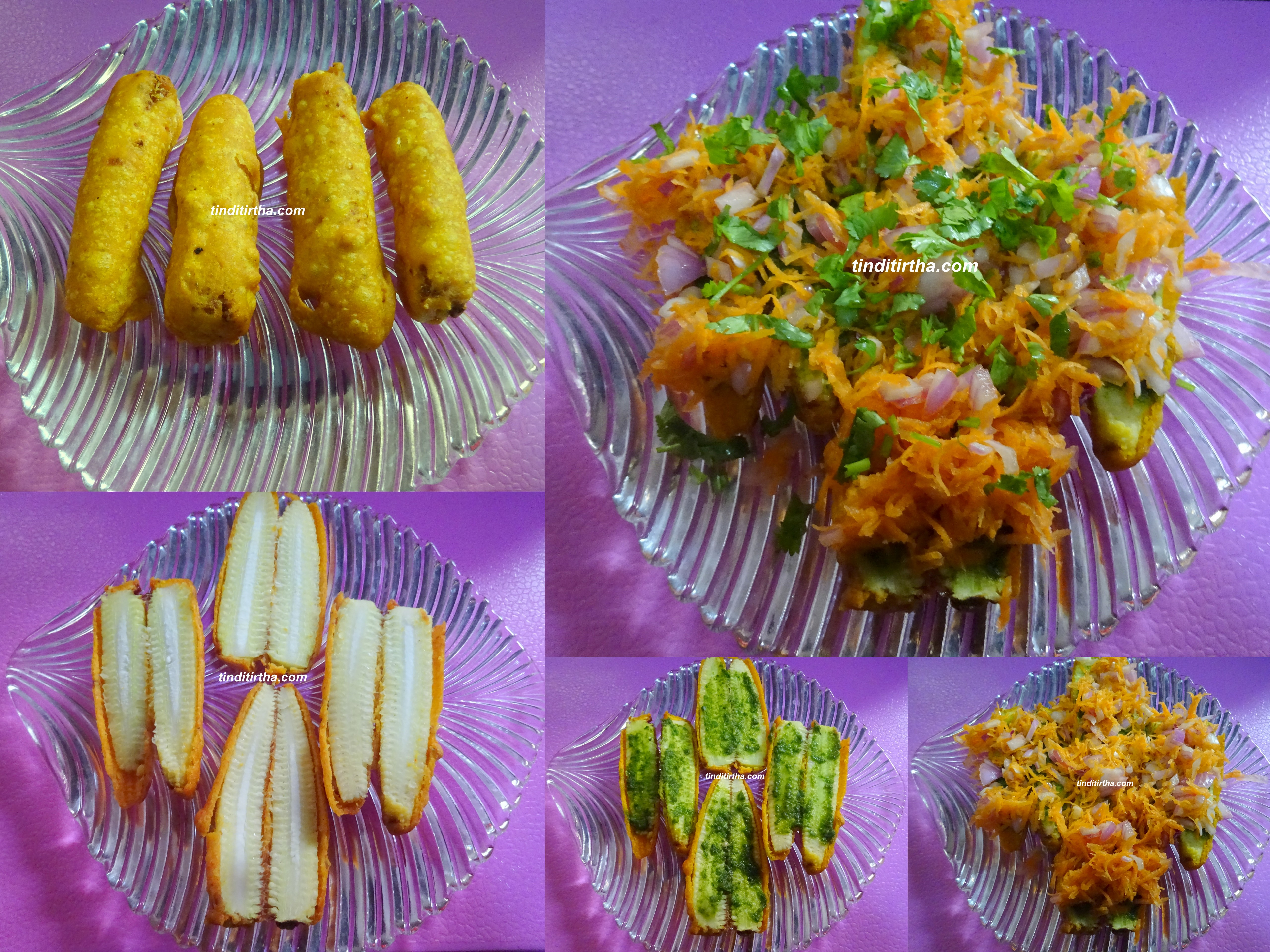 BABY CORN BAJJI CHAT