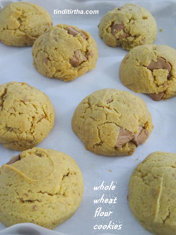 WHOLE WHEAT FLOUR COOKIES…… using chocolate chunks