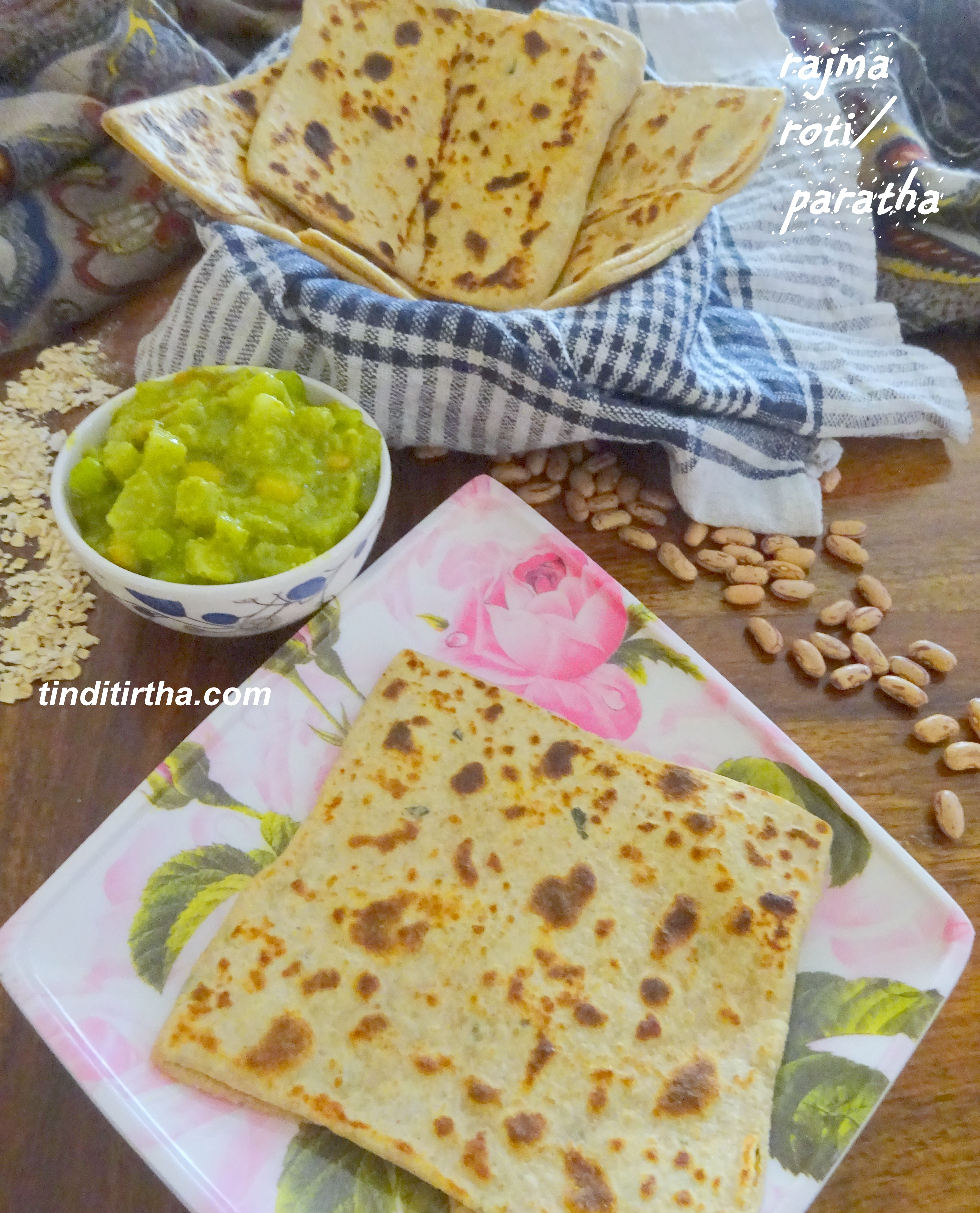 RAJMA/KIDNEY BEANS ROTI/PARATHA….also with the goodness of oats