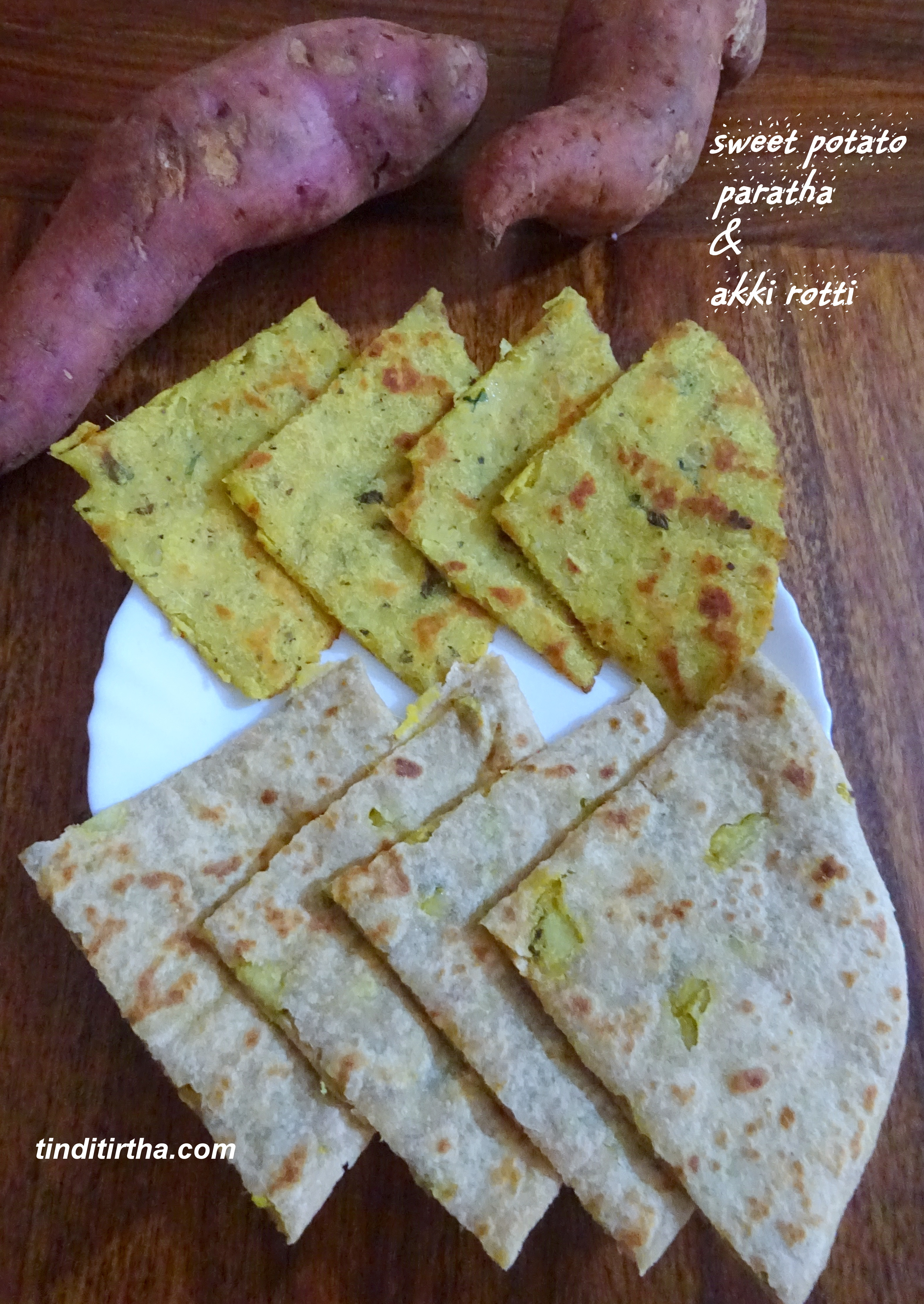 SWEET POTATO/SIHI GENASINA PARATHA using whole wheat flour